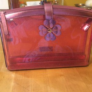 kate spade cosmetic bag. Pink sparkles double zip